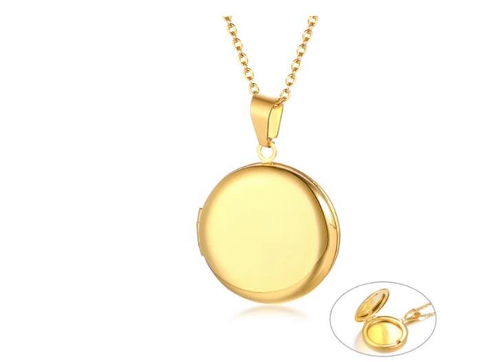 медальон, стомана, подарък, снимка